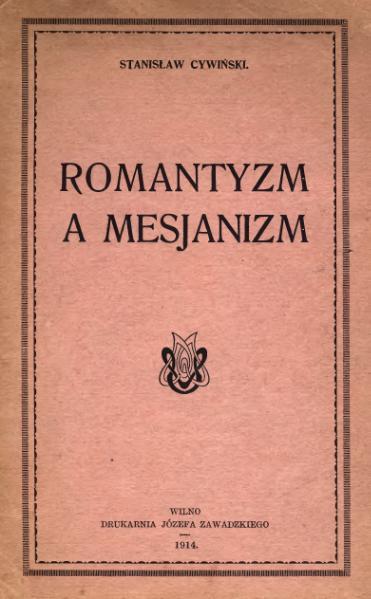 File:Romantyzm a mesjanizm.djvu