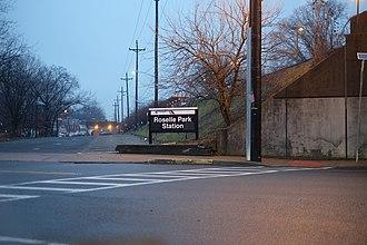 Roselle Park, New Jersey - Roselle Park Train station entrance on Locust Street.