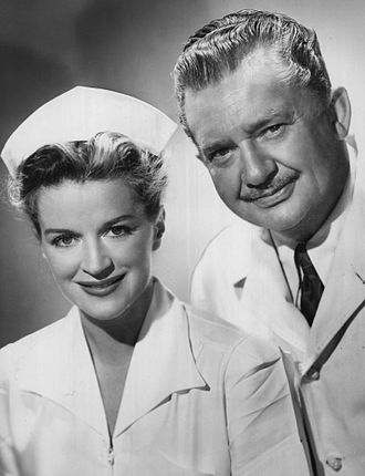 Dr. Christian - Rosemary DeCamp as Judy Price and Jean Hersholt as Dr. Christian, 1953.