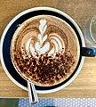 Rosetta latte art in Botellon Restaurant, Graceville, Brisbane, Queensland.jpg
