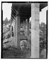 Route 87, Beaver Creek Bridge, underside view. View NE. - Beaver Creek Bridge, Hot Springs, Fall River County, SD HAER SD-53-3.tif