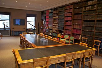 Royal Astronomical Society - The council room at the RAS