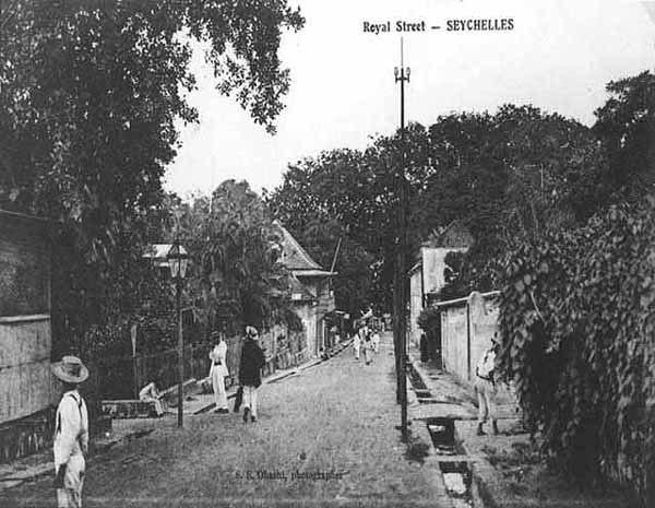Royal Street Victoria Seychelles 1900s