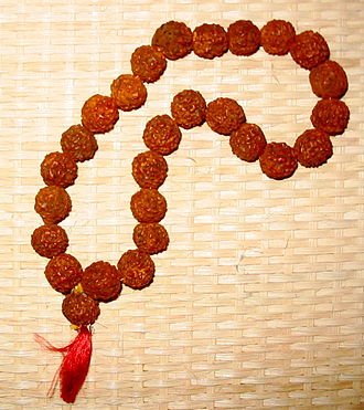 Rudraksha - Prayer beads made of rudraksha seeds
