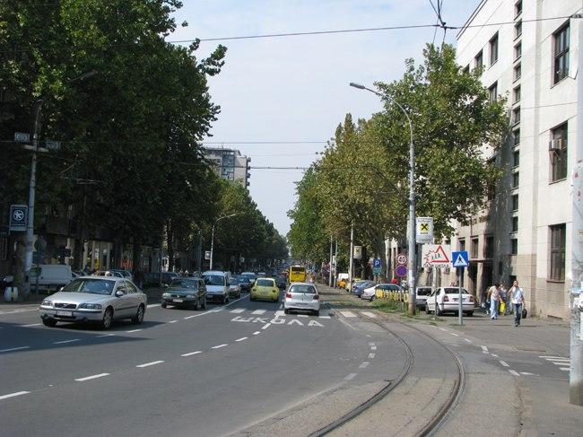 Rue Cara Dušanova à Belgrade