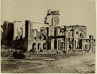 Nowell Salmon - The ruins of the Residency at Lucknow after the siege during which Salmon was awarded the Victoria Cross