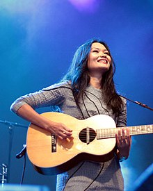 Bic Runga performing on the 2010 Winery Tour, in Auckland, New Zealand.