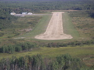 Bloodvein River Airport - On short final
