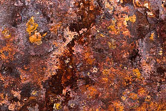 Rust - Colors and porous surface texture of rust