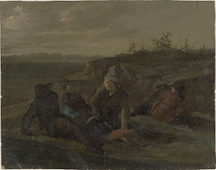 Resting Countrymen in a Meadow