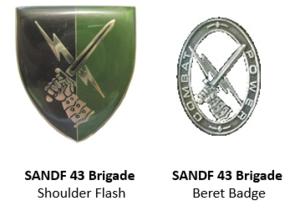 43 South African Brigade - SANDF 43 Brigade insignia