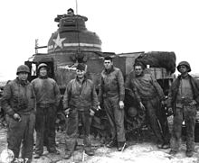 crew of m3 tank at souk el arba tunisia november 23 1942