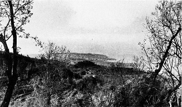 The Cape of Beirut viewed from Mount Lebanon