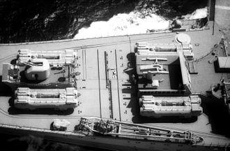 P-500 Bazalt - Eight SS-N-12 launchers on the aircraft carrier Kiev