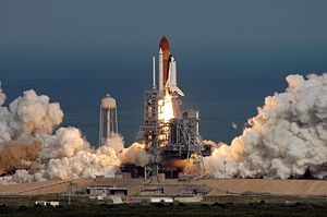 STS-122 - Atlantis launches with Columbus