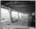 SUPPORTING POSTS UNDER FOREBAY - Stone Barn, U.S. Route 30, Coatesville, Chester County, PA HABS PA,15-COAT.V,2A-3.tif