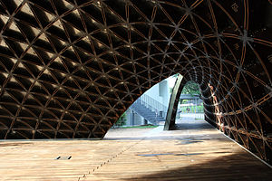 Gridshell - SUTD library pavilion