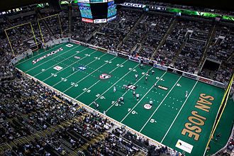 Indoor American football - San Jose SaberCats and Columbus Destroyers in ArenaBowl XXI, the 2007 championship game of the Arena Football League.