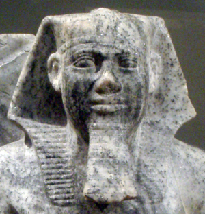 Head of a gneiss statue of Sahure in the gallery 103 of the New York Metropolitan Museum of Art.[1][2][3]