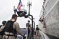 Sailors aboard USS Coronado participate in visit, board, search and seizure training. (32061277316).jpg
