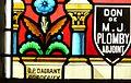 Saint-Georges-Blancaneix église vitrail choeur signature.JPG