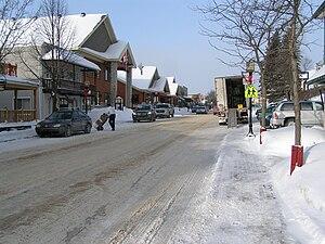 Saint-Donat, Lanaudière, Quebec - Main street in Saint-Donat