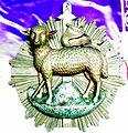 Saint Henry Catholic Church (St. Henry, Ohio) - artifact, Agnus Dei medallion from the old altar.jpg