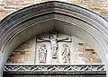 Saint John the Evangelist Cathedral (Cleveland, Ohio) - Crucifixion tympanum relief.jpg