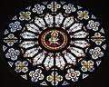 Saint Julie Billiart Catholic Church (Hamilton, Ohio) - stained glass, rose window, Sacred Heart of Jesus.jpg