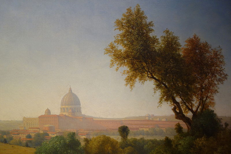 File:Saint Peter's, Rome, by George Inness, detail, 1857, oil on canvas - New Britain Museum of American Art - DSC09179.JPG