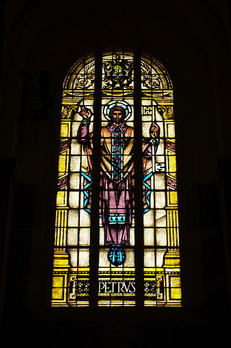 Saints Peter and Paul Cathedral (Indianapolis) - Window depicting St. Peter