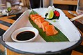 Salmon Sashimi, wasabi, lime, chifa daikon (Nikkei) $12.jpg