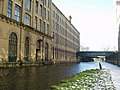 Salt's Mill from the canal, Saltaire - geograph.org.uk - 133281.jpg