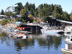 Ganges Harbour on Salt Spring island
