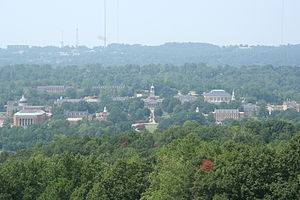 Homewood, Alabama - Bird's-eye view of the Samford University campus