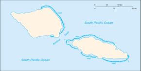 Apia is located in Samoa
