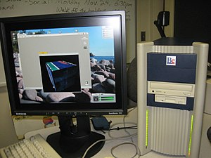 Samsung SyncMaster 191T and BeBox 20081114.jpg