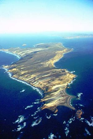San Miguel Island - Aerial view of San Miguel