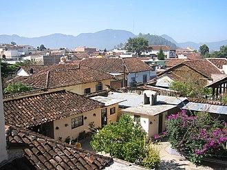 Roof - The roofs of San Cristóbal de las Casas, Mexico