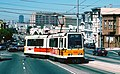 San Francisco Boeing LRV 1273 turning onto San Jose Ave from 30th St on the J-line in 1993.jpg