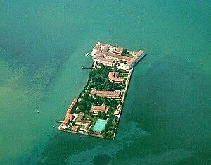 Venice International University - Aerial view of San Servolo
