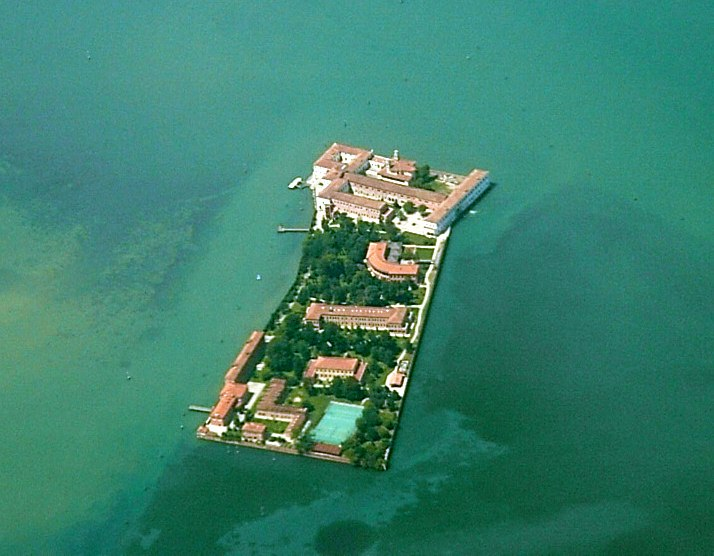 San Servolo (Venice) from the air