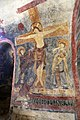 San lorenzo in insula, cripta di epifanio, affreschi di scuola benedettina, 824-842 ca., crocifissione coi dolenti e l'abate epifanio 01.jpg