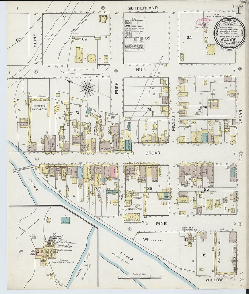 File:Sanborn Fire Insurance Map from Globe, Gila County ... on peridot mesa map, lincoln county map, navajo county map, albuquerque county map, coconino county map, roosevelt county map, monticello county map, brown county map, pinal county map, litchfield county map, tucson map, yuma county map, yavapai county map, laramie county map, grand county map, arizona map, united states county map, pima county map, mills county map, crenshaw county map,