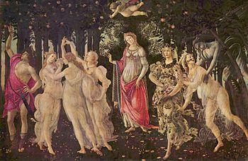 La Primavera di Botticelli (tra 1477 e 1490)