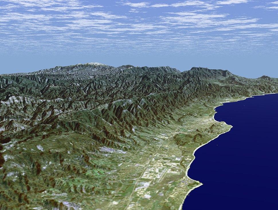 Santa Barbara, CA, and rugged back country 2000 NASA
