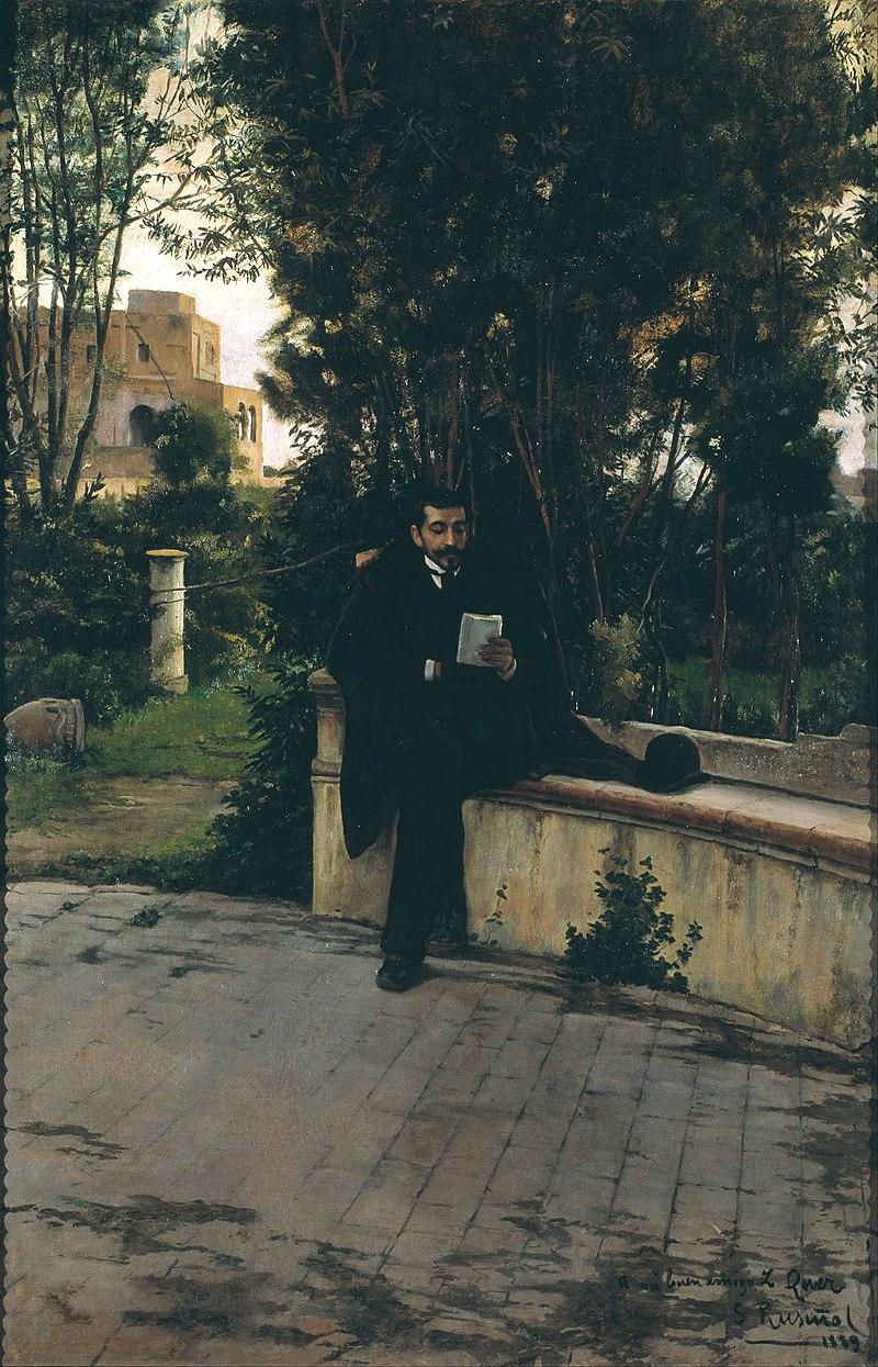 Santiago Rusiñol - Senyor Quer in the Garden - Google Art Project.jpg