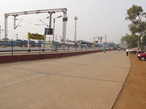 Santragachi Junction railway station -  Santragachi railway station passenger terminal.