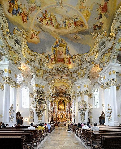 UNESCO-Weltkulturerbe Wieskirche Innenraum - panoramio retusche2
