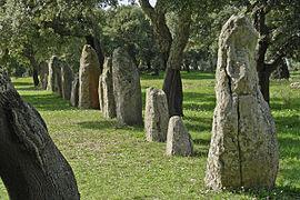 Sardinien Goni Pranu Muttedu menhir-reihe